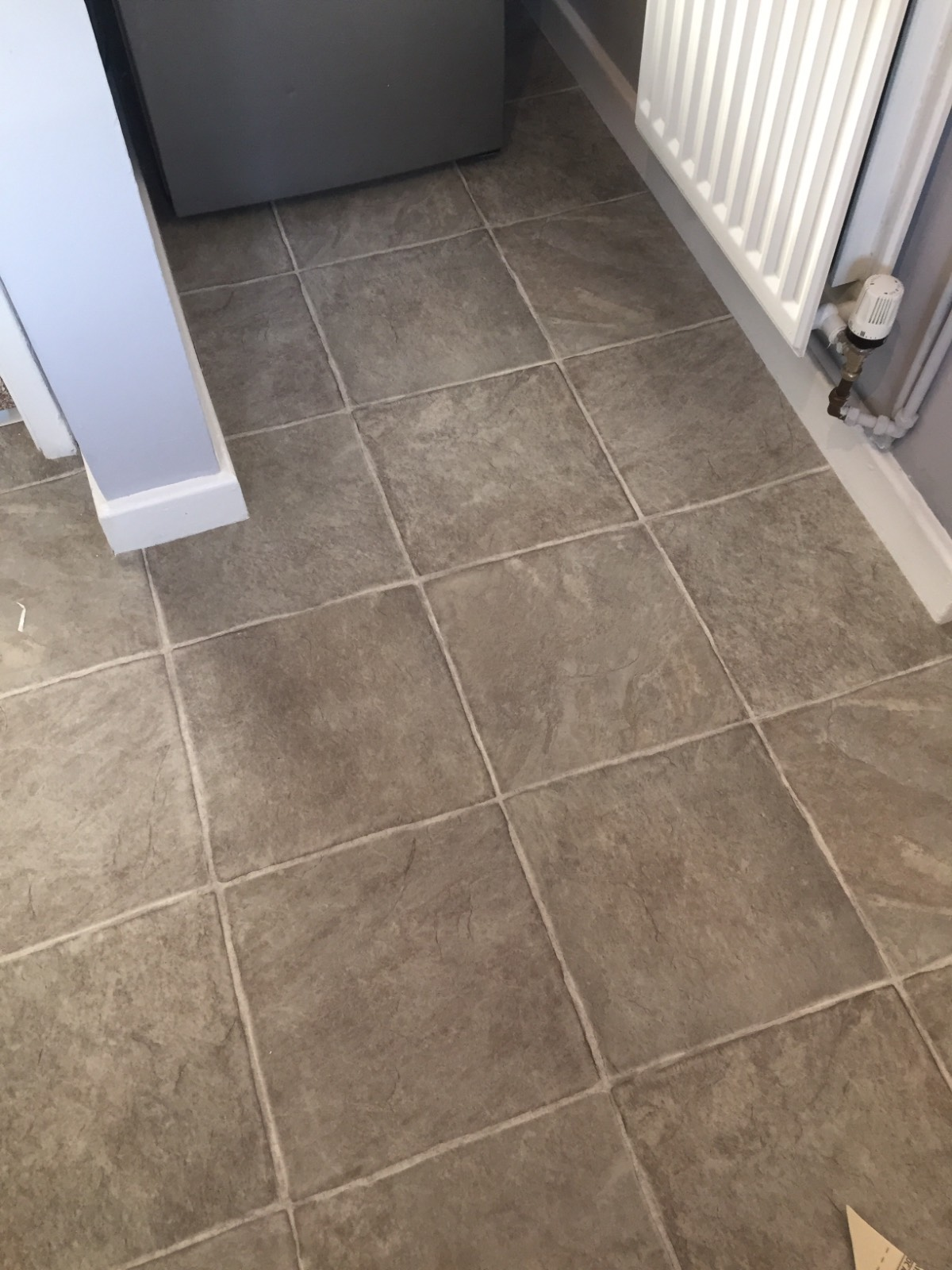 tile design vinyl flooring in kitchen