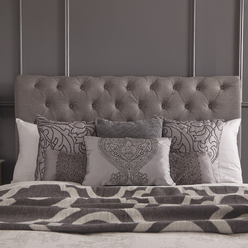 pay weekly grey padded headboard